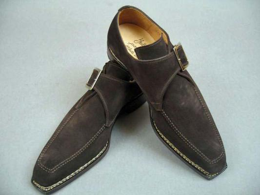 Style  : Monkstrap,  Construction  : Norwegian, Exterior Length : 12.5 inches, Exterior Width : 4.25 inches,  (Available in size 9.5, 10.5)