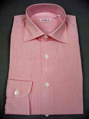 Collar : Spread, Cuffs : Barrel, Chest Pocket : No, Notes : These shirts are the European fit with the following measurements: Size 15.5 Chest 43 inches Shoulders 17.75 inches Sleeve 35.25 inches, Size 15.75 Chest 44 inches Shoulders 18 inches Sleeve 35.5 inches, Size 16 Chest 47 inches Shoulders 18.5 inches Sleeve 36 inches, Size 16.5 Chest 48 inches Shoulders 19 inches Sleeve 36.5 inches, Size 17 Chest 49 inches Shoulders 19.5 inches Sleeve 37 inches, Size 17.5 Chest 50 inches Shoulders 20 inches Sleeve 37.25 inches-New Isaia Shipment,  (Available in size 16.5, 15.5, 15.75)