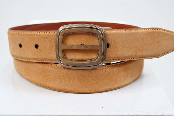 ,  Notes:  : This Santoni belt is adjustable.  The max measurement to the middle notch is 42 inches, but you can easily remove the buckle (and use this buckle or your own) and cut down to any size you need!, Belt Width : 1.25 inches,