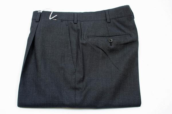 , ,  Inseam:  : Unhemmed, Flat Front or Pleated : 1 Pleat, Notes : These pants are Model 6011 with measurements for the following sizes (not all sizes are available in each pant so check availability): Size 30 across the thigh of 11.75 inches, across the cuff of 7.75 inches and a rise of 10.25 inches, Size 32 across the thigh of 12 inches, across the cuff of 8 inches and a rise of 10.5 inches, Size 34 across the thigh of 12.25 inches, across the cuff of 8 inches and a rise of 10.75 inches, Size 36 across the thigh of 12.5 inches, across the cuff of 8.25 inches and a rise of 11 inches, Size 38 across the thigh of 13 inches, across the cuff of 8.5 inches and a rise of 11 inches, Size 40 across the thigh of 13 inches, across the cuff of 8.5 inches and a rise of 11.25 inches, Size 42 across the thigh of 13.75 inches, across the cuff of 8.75 inches and a rise of 11.75 inches, Size 44 across the thigh of 14.25 inches, across the cuff of 9 inches and a rise of 12 inches-New Belvest Shipment,  (Available in size 44, 40, 34)